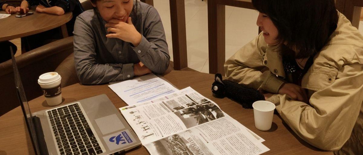 団体説明会の様子。ezorockの職員から活動内容等を聞いたり、生活の状況を考えた時にどんな関わり方ができるのかなど相談をします。