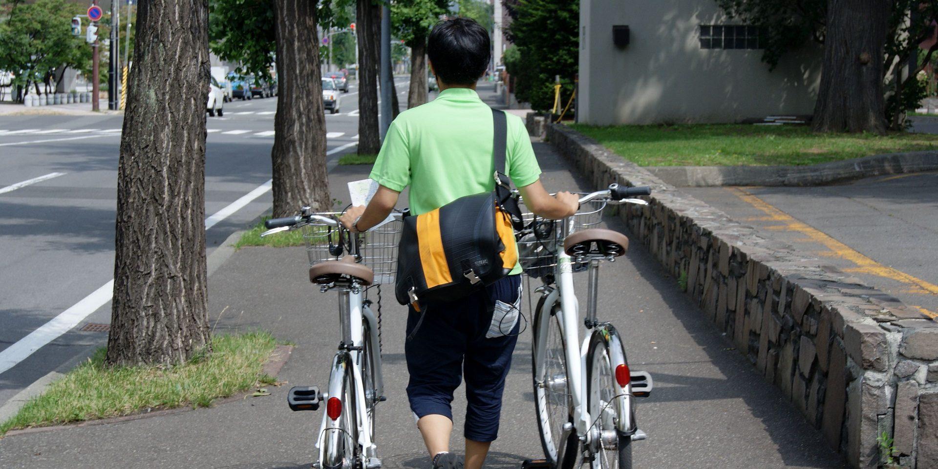 NPO法人ポロクル。自転車を通した、新しいまちづくりに関わるのが、大学生を中心としたクルーたち。