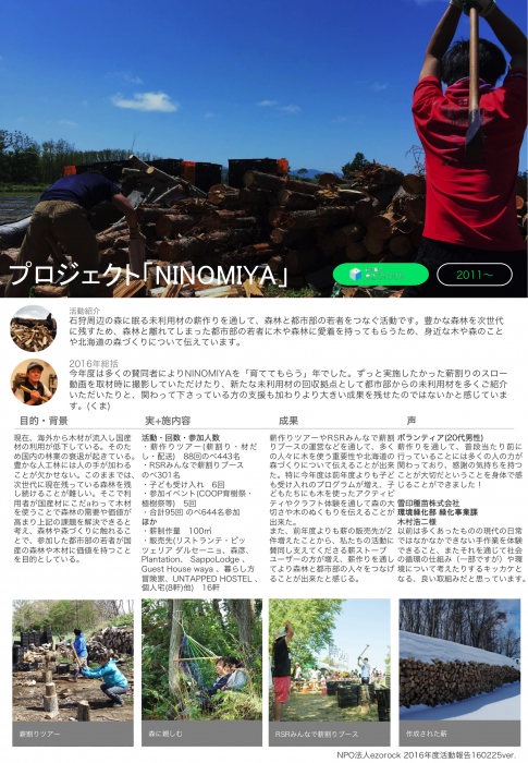 NINOMIYA2016活動報告レポート