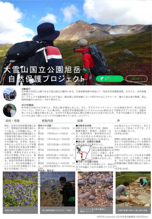 旭岳2016活動報告レポート